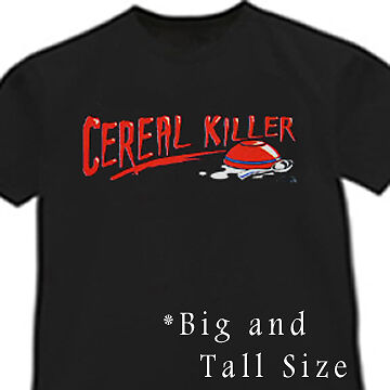 Cereal killer shirt funny big and tall t shirt ebay for Design your own t shirt big and tall