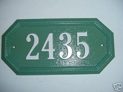 Custom cast aluminum house plaque sign ebay for Plaque aluminium castorama