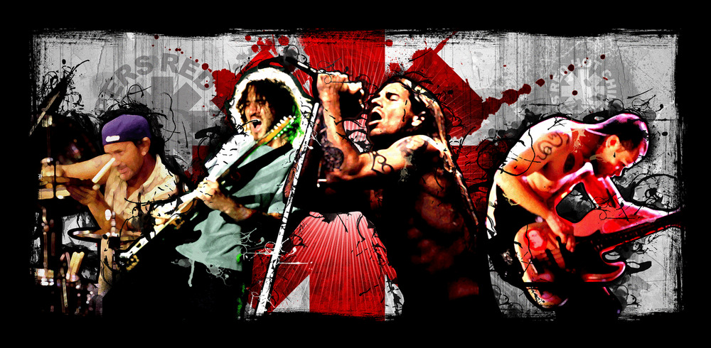 red hot chili peppers 39 s canvas art print ebay. Black Bedroom Furniture Sets. Home Design Ideas
