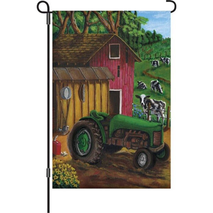 tractor on the farm garden size flag pr 51345 ebay