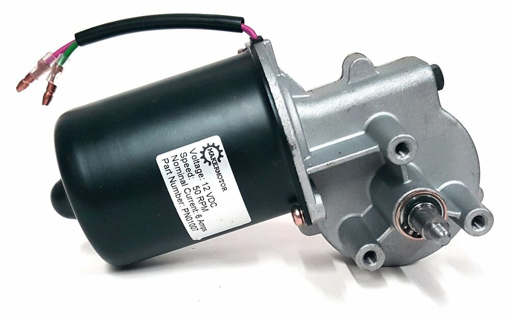 Reversible gear motor 12v 50 rpm gearmotor qty of 2 ebay for Low rpm electric motor for rotisserie