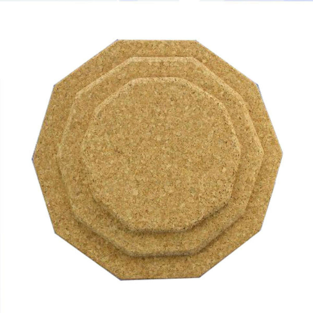 Heptagon Natural Cork Tablemat Placemats 150mm X 150mm Ebay