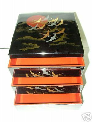 japanese jubako 5 lunch dinner lacquer box bento new ebay. Black Bedroom Furniture Sets. Home Design Ideas