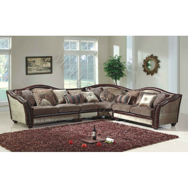 Light brown chenille velvet tapestry fabric sectional ebay for Tapestry sofa living room furniture