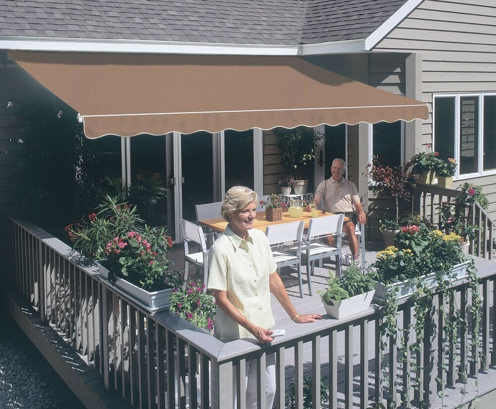 10 Ft Outdoor Retractable Sunsetter Motorized Awning By