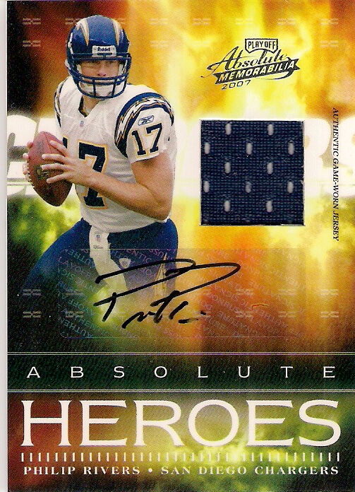 Philip Rivers 2007 Absolute Heroes Auto Gw Jersey 30 Ebay