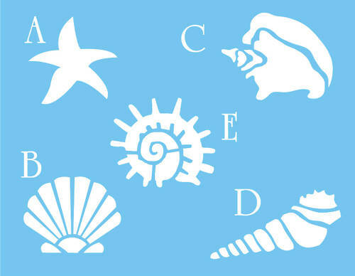 Remarkable image regarding free printable seashell stencils