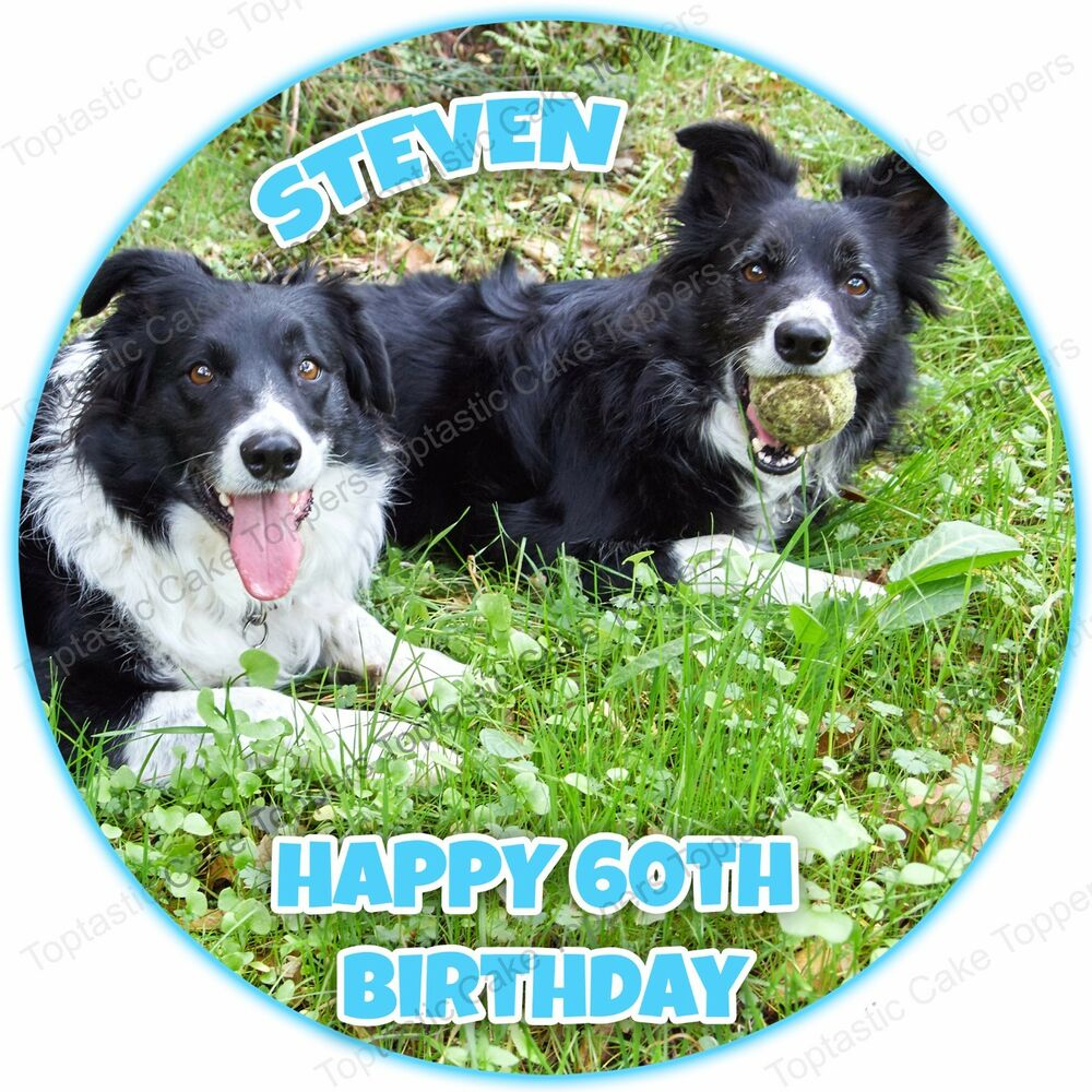 Personalised Border Collie Dog Edible Icing Cake Topper eBay