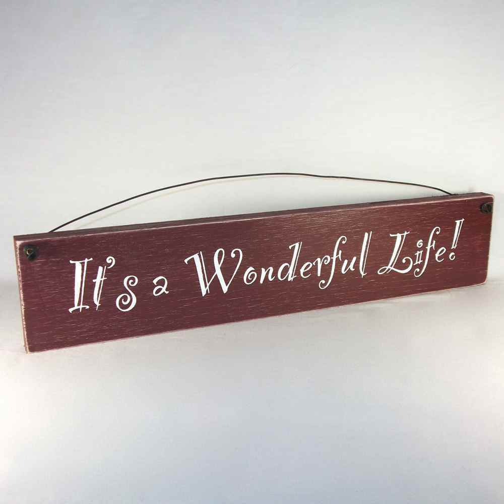 It 39 S A Wonderful Life Shabby Country Sign Assted Colors Ebay