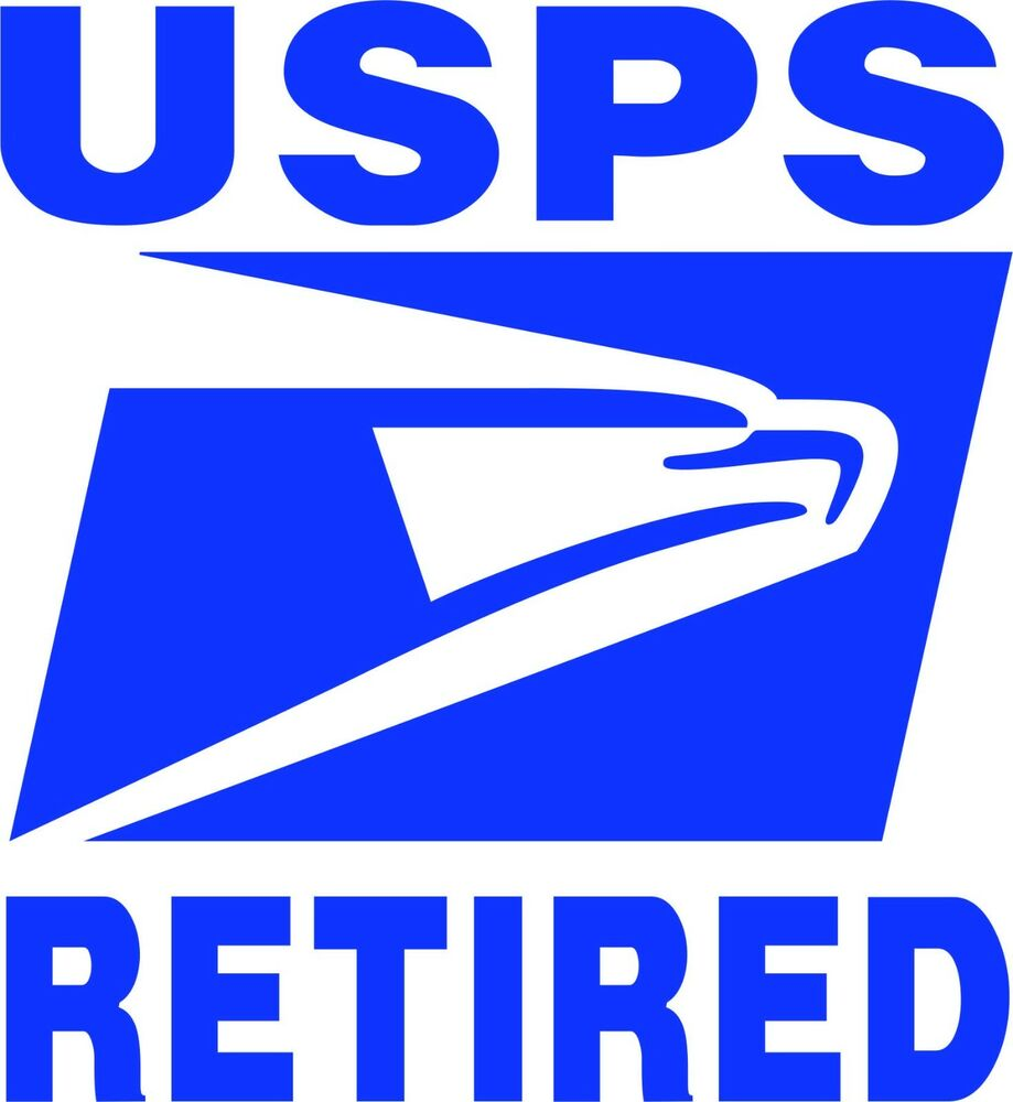 (2) Postal Service Retired Eagle Decals Stickers Signs ...