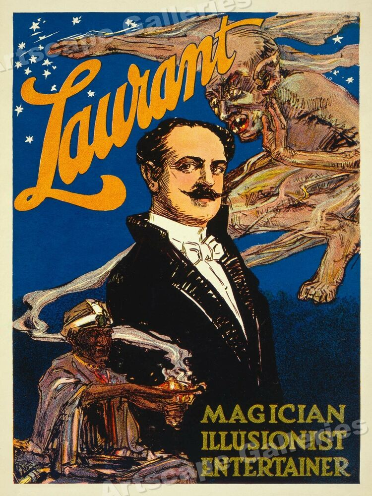 Magician From The Crystal Visions Tarot: 1913 Laurant Magician Illusionist Entertainer