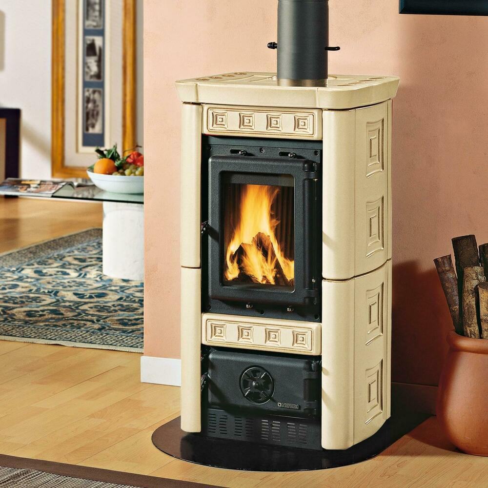 kaminofen la nordica gaia pergamena 6 kw kamin ofen holzofen ebay. Black Bedroom Furniture Sets. Home Design Ideas