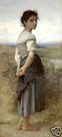 "Art Repro oil painting:""Young Shepherdess at canvas"" 24x36 Inch"