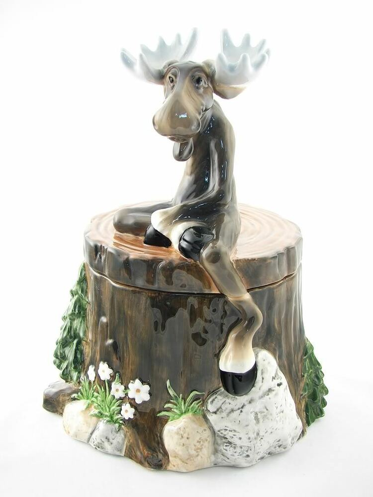 Big sky carvers moose treat cookie jar mountain mooses ebay