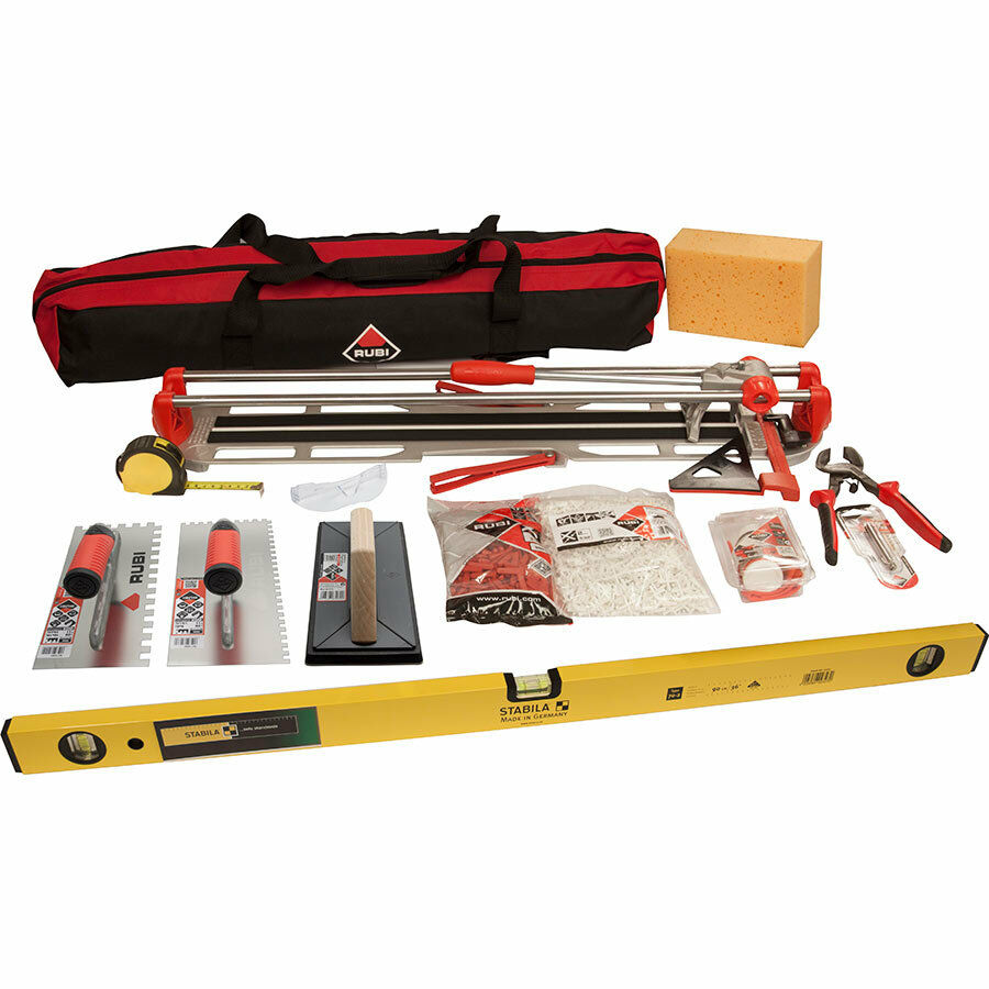 rubi tiling tools kit inc rubi star max 65 tile cutter. Black Bedroom Furniture Sets. Home Design Ideas