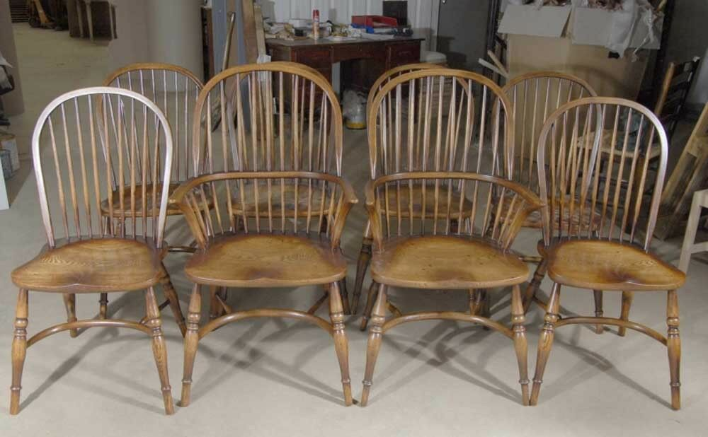 English Rustic Kitchen Dining Chairs