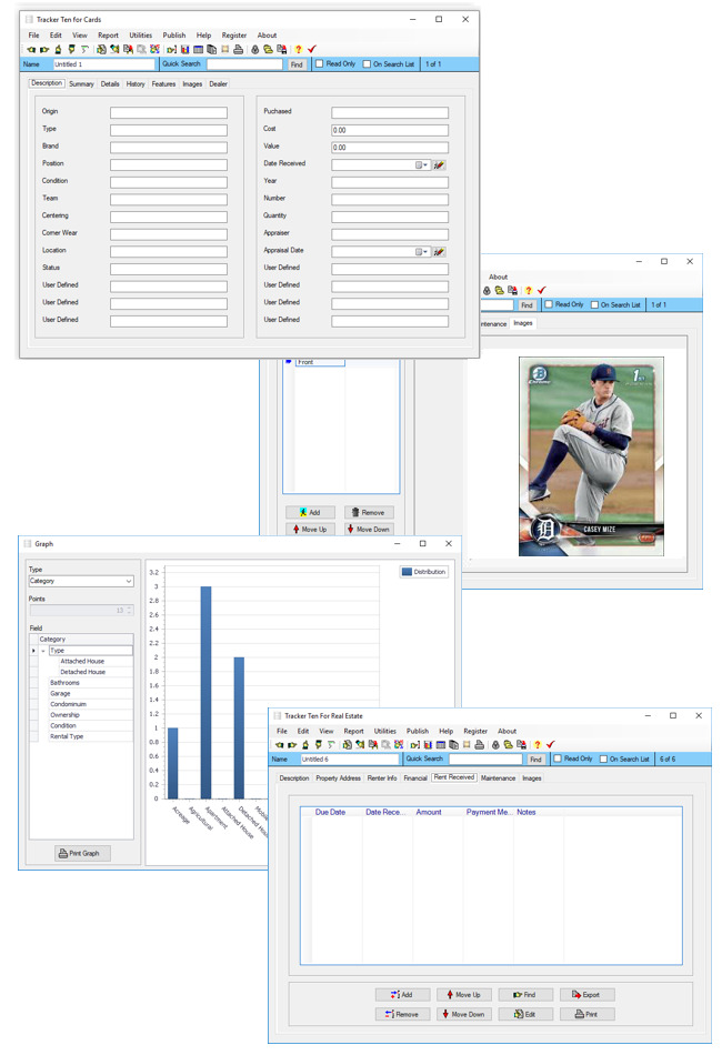 Hockey Basketball Baseball Card Collecting Software Free Try Before You Buy Demo | eBay