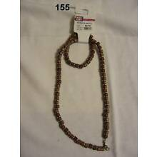 8 Brown Beaded Necklace Bracelet Sets New Wholesale Lot Matching Two Piece Set