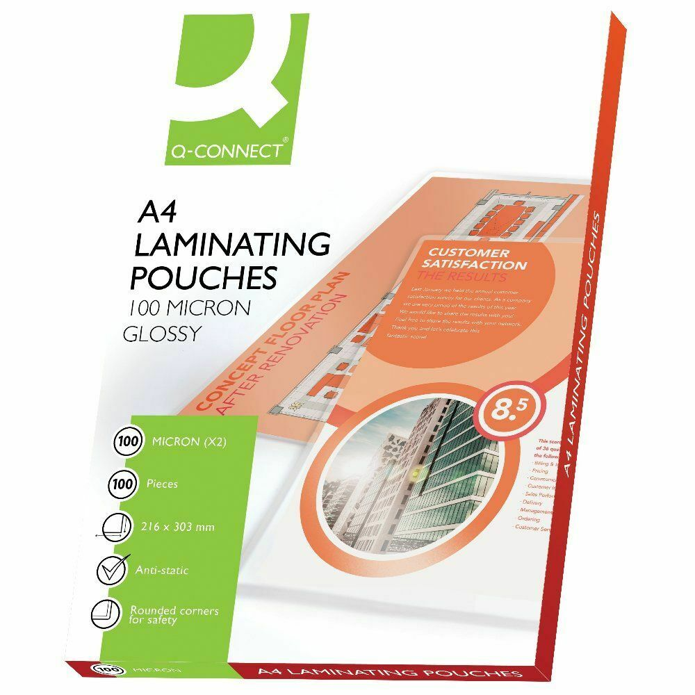 100x A4 Thick 200 Micron Gloss Laminating Pouches Sheets