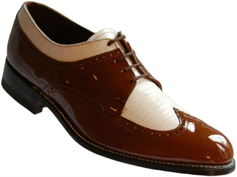 Brown and white, grey and white, and sometimes black and white saddle shoes become more popular going into the s. Some men's were still wearing lace up boots in black or brown with a cap toe, wingtip or button spats.