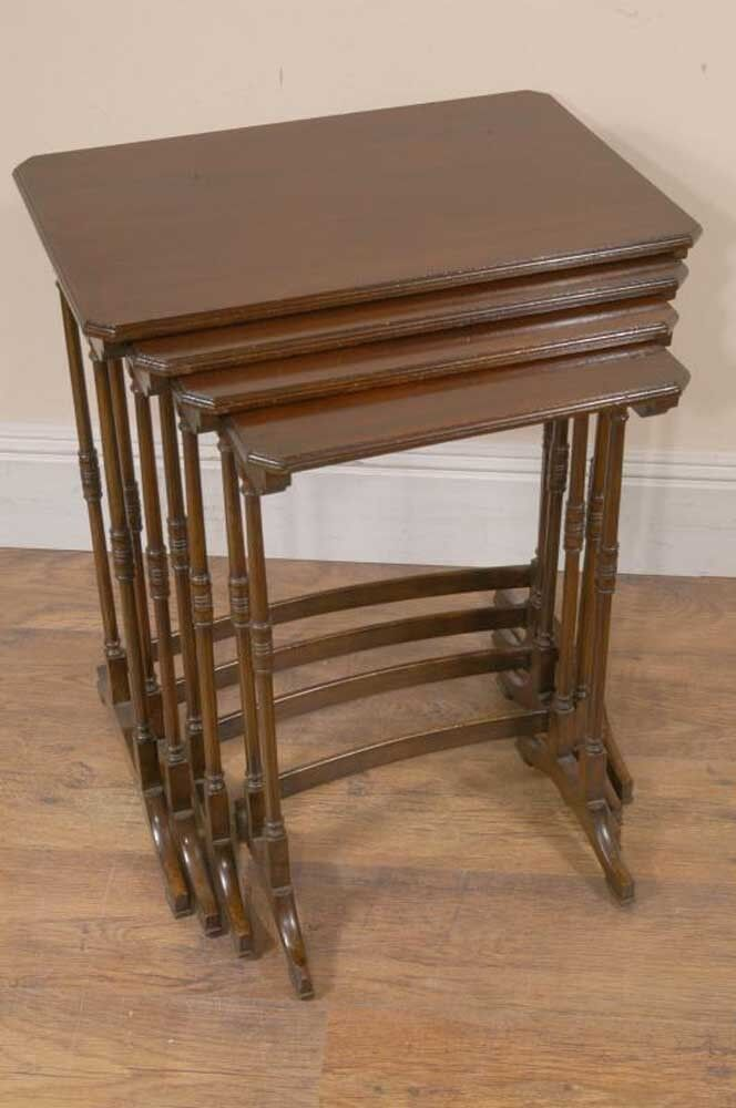Edwardian mahogany antique nest tables side table ebay