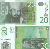 Serbia 20 Dinara Uncirculated 2006 note