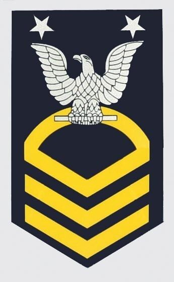 Chief petty officer window strip decal