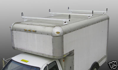 Flat Top Utility Van Box 3pc Ladder Van Roof Rack Black Ebay