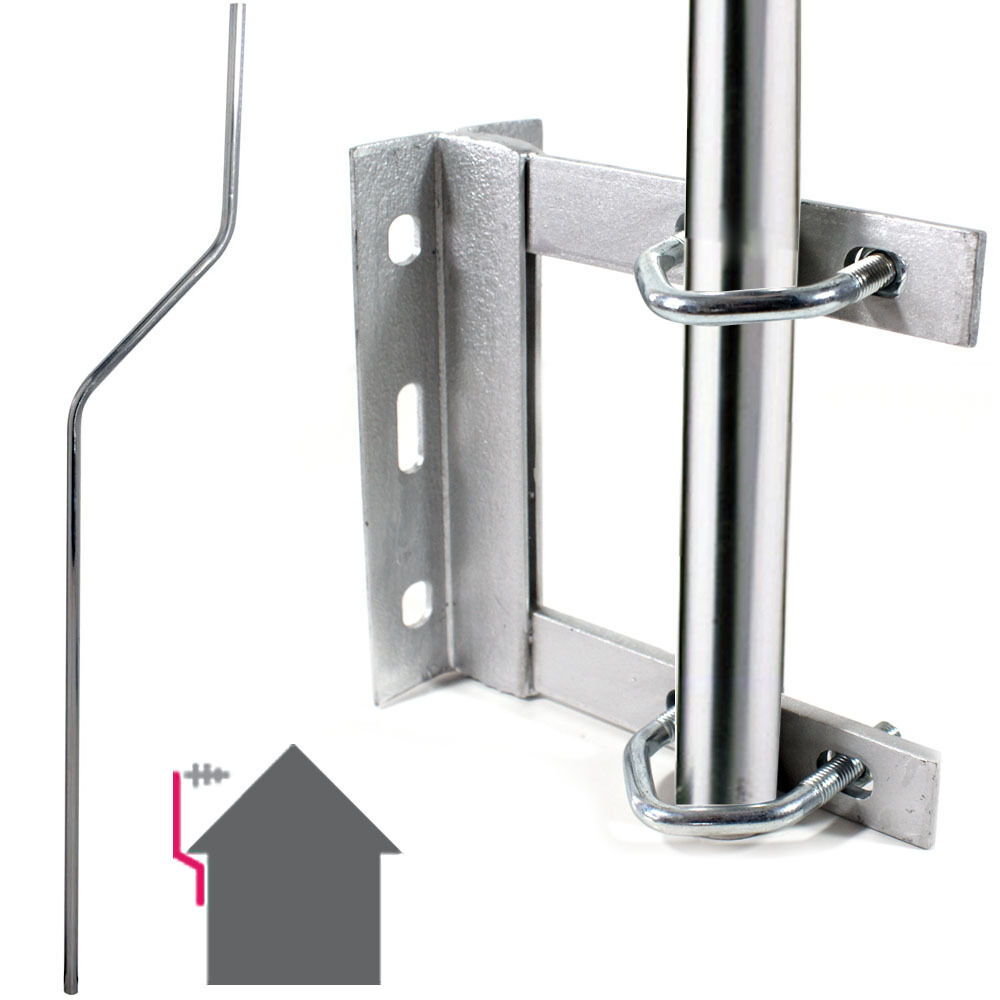 Galvanised Tv Aerial Wall Mounting Kit Cranked Offset