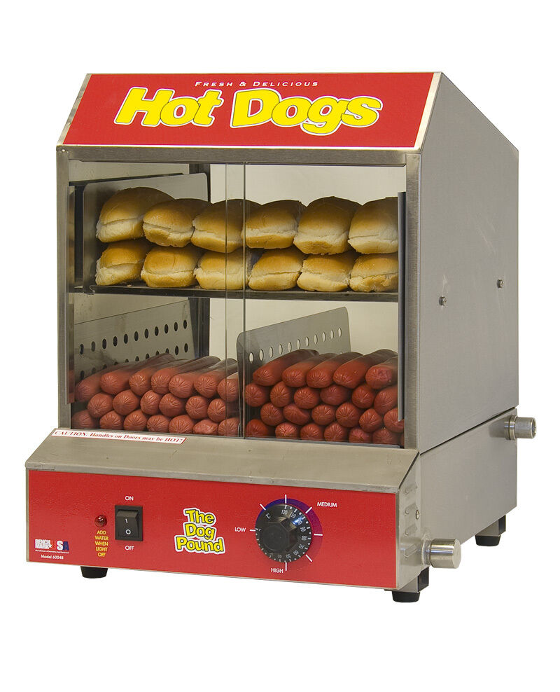 hotdog steamer cooker 60048 dog pound hot dog machine ebay. Black Bedroom Furniture Sets. Home Design Ideas