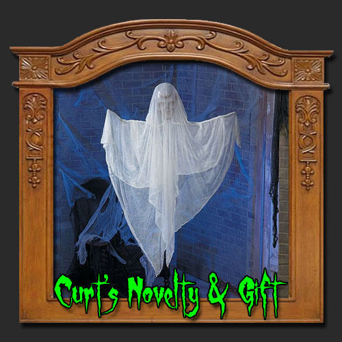 HANGING WHITE GHOST Halloween Haunted House Prop | eBay