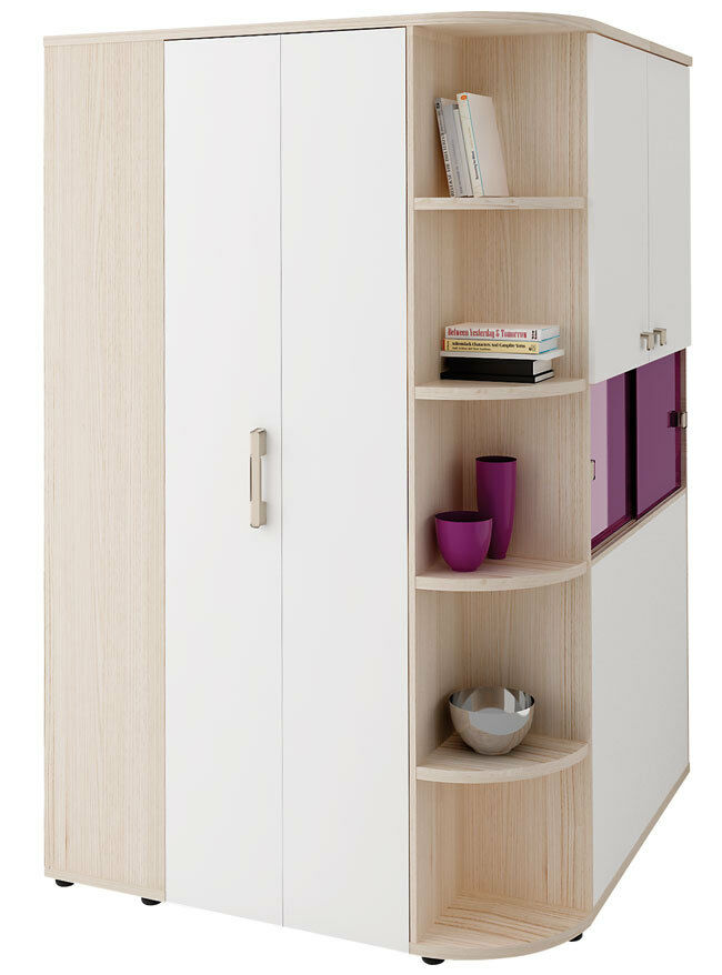 welle begehbarer eckschrank kleiderschrank unlimited jugendzimmer kleiderschrank ebay. Black Bedroom Furniture Sets. Home Design Ideas
