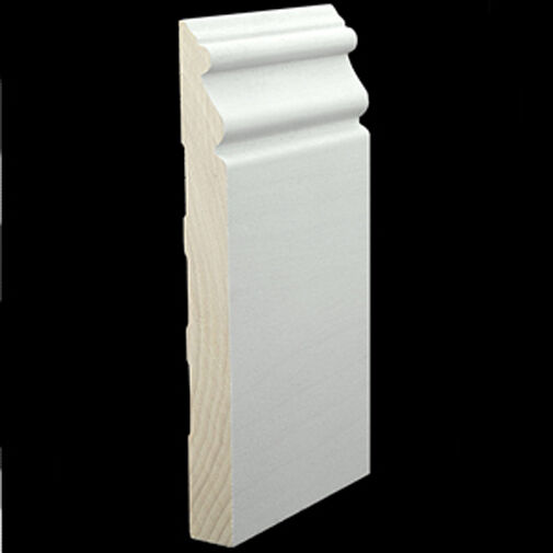 7 1 2 Quot Primed Solid Poplar Hardwood Beaded Base Moulding