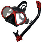 Scuba Dive Snorkeling Spearfishing Mask Dry Snorkel Gear Set