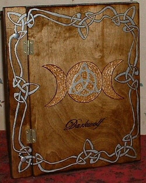 Witch Craft Book Cover : Triple moon triquetra book of shadows wicca witch ebay