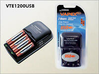 Fast Charger for AA and AAA Batteries + USB Vapextech