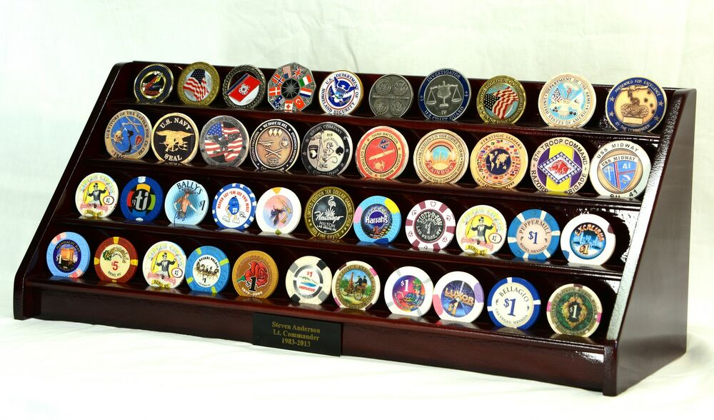 Casino chip display case