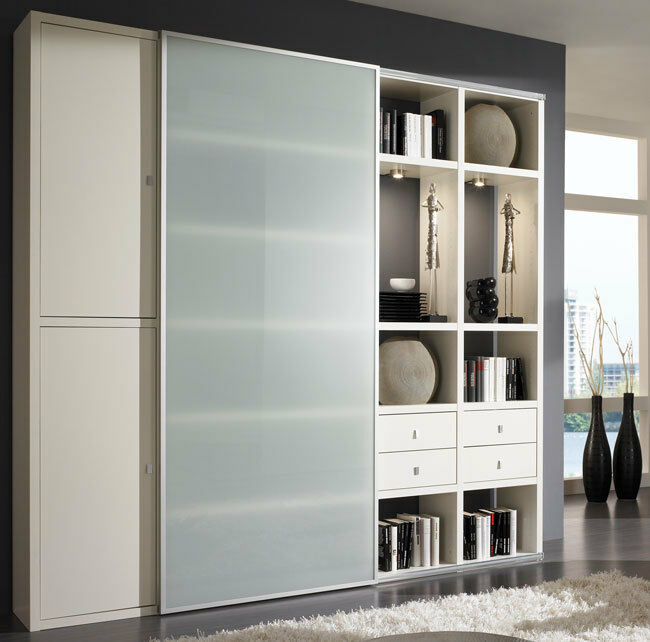 toro schrankwand b cherregal bibliothek regal mit schiebet r ma genau m glich ebay. Black Bedroom Furniture Sets. Home Design Ideas