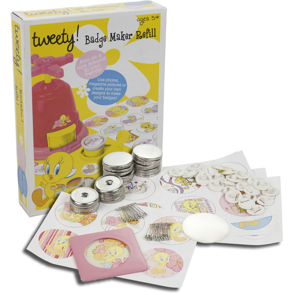 Kids tweety badge maker refill fun arts and craft set ebay for Michaels crafts button maker