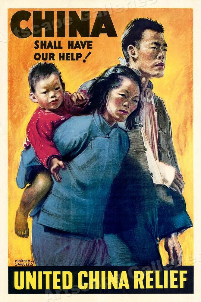 United China Relief! Vintage Style WW2 War Poster 16x24 | eBay