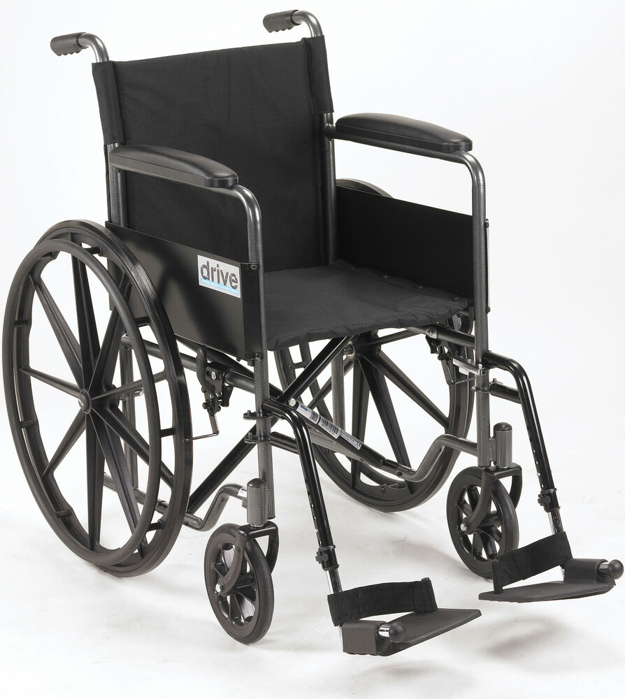 Silver sport 1 manual wheelchair standard drive medical ebay for Mobility chair