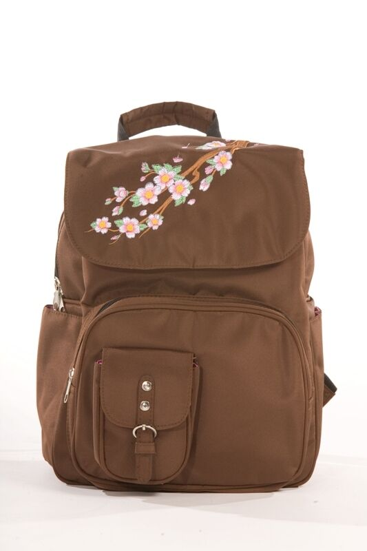 diaper bag designer backpack rock n moms chic brown nwt ebay. Black Bedroom Furniture Sets. Home Design Ideas