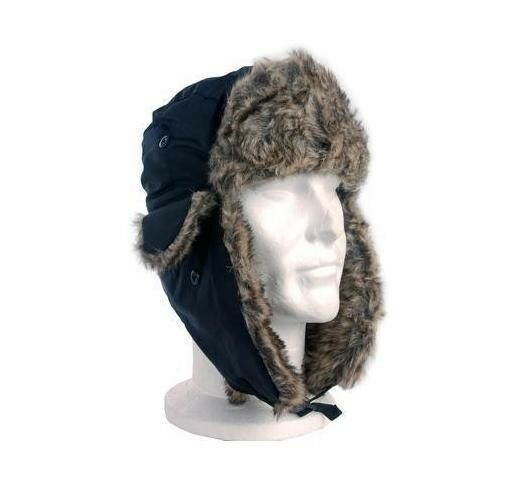 chapka homme femme toque noir bonnet russe fourrure hiver montagne ski neuf ebay. Black Bedroom Furniture Sets. Home Design Ideas