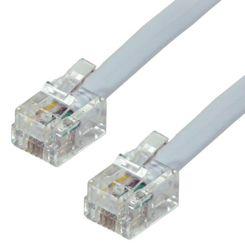 2m rj11 to plug adsl broadband modem router fax cable ebay - Cable adsl rj11 ...