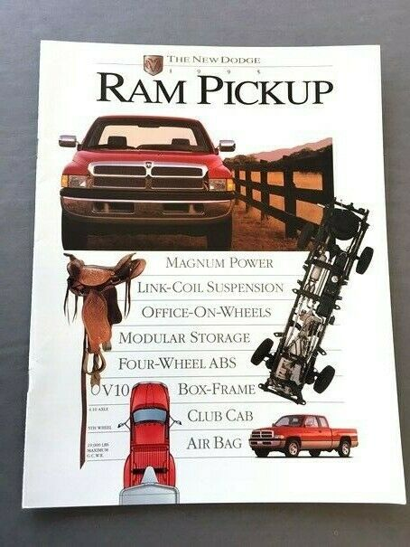 1995 Dodge Ram Pickup Truck Original Sales Brochure Book
