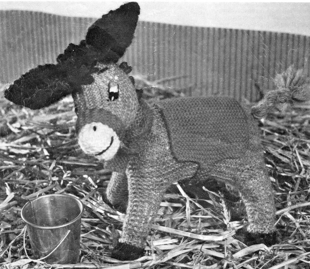 Free Dk Baby Knitting Patterns : Vintage Little Toy Donkey Pattern