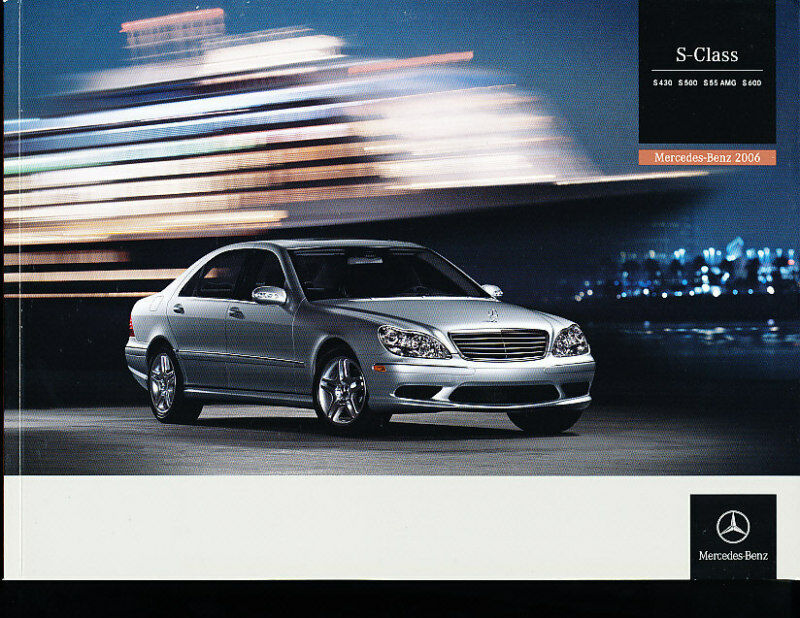 2006 mercedes benz s600 s55 amg 38 page sales brochure for Mercedes benz s600 ebay