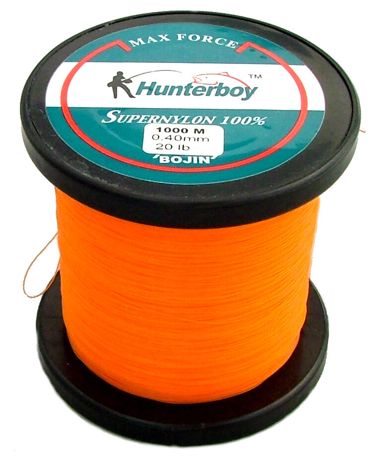 hunterboy opaque orange nylon fishing line 1000m 20lb
