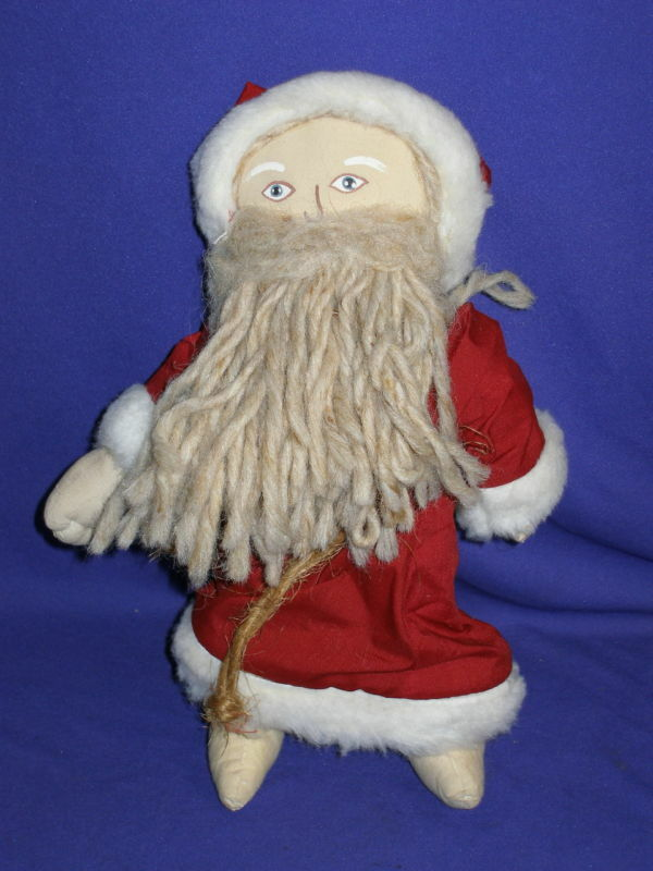 Vintage Country Santa Claus Cloth Christmas Doll 13 Quot Ebay