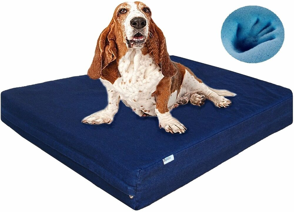 extra large tough waterproof memory foam pet dog bed. Black Bedroom Furniture Sets. Home Design Ideas